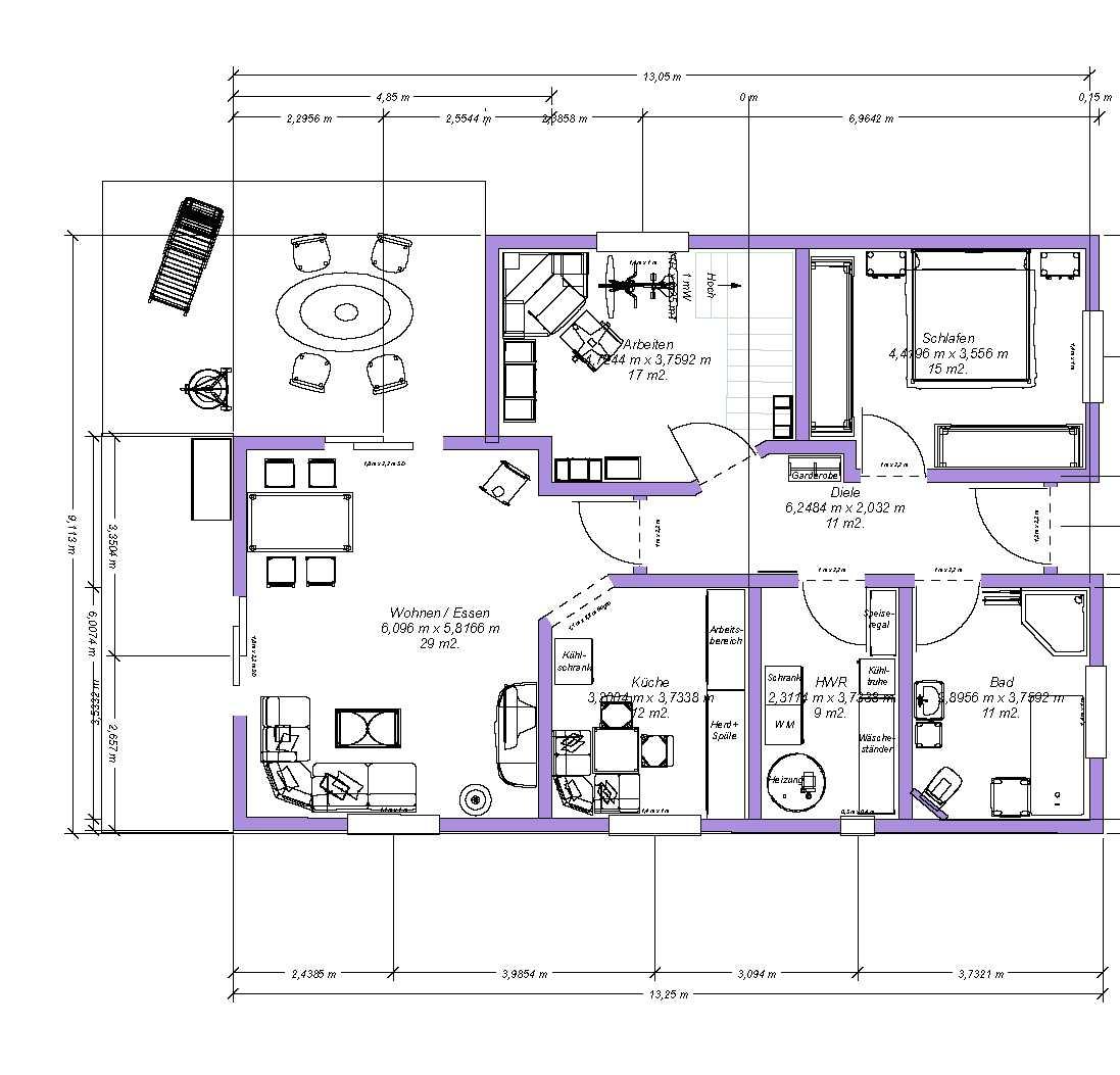 bungalow grundrisse 4 zimmer 3d raum und m beldesign inspiration. Black Bedroom Furniture Sets. Home Design Ideas