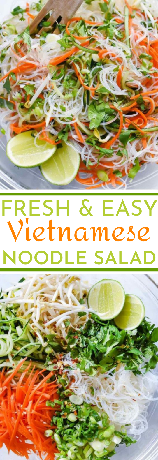 Fresh And Easy Vietnamese Noodle Salad #vegan #salad #glutenfree #lunch #healthy