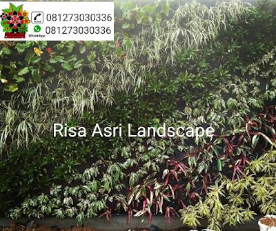 cv. risa asri landscape gambar taman vertikal, vertical garden, vertical green, taman vega, taman dinding, kantong