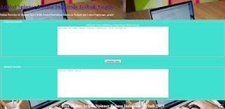 Script PHP Artikel Spinner - Spintax Generator Indonesia