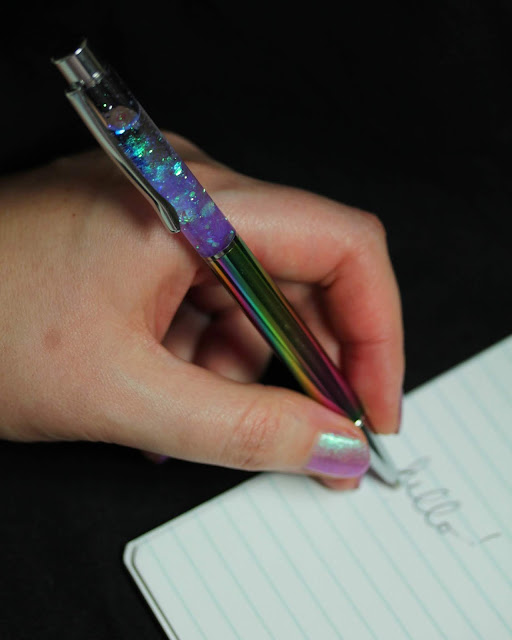 Girly Bits Glitter pen review by Streets Ahead Style'