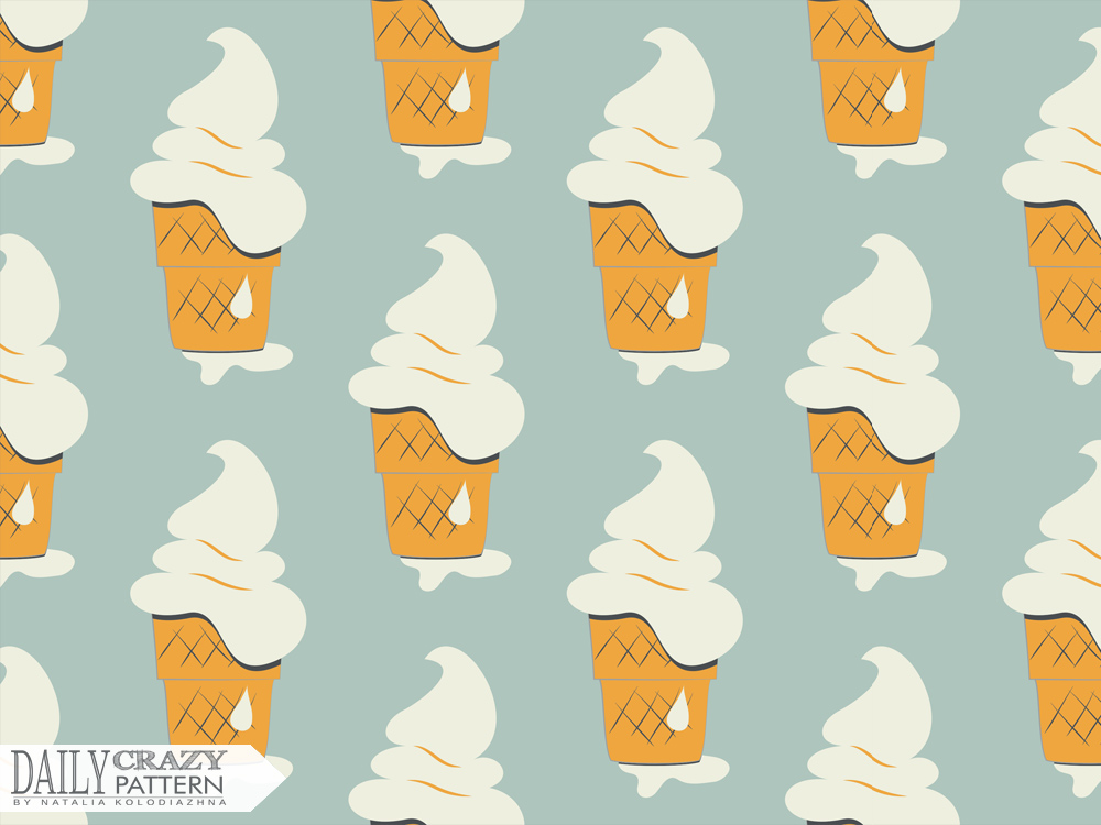 Yummy ice cream pattern