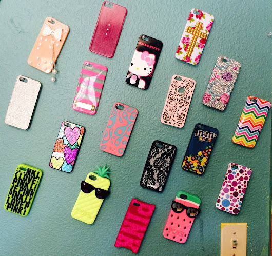 Easy and cute DIY iPhone case storage!
