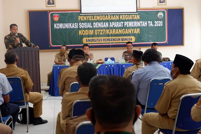 Kodim Karanganyar - Dandim Karanganyar : TNI-Polri Siap Mengawal Pendisiplinan Protokol Kesehatan Covid 19