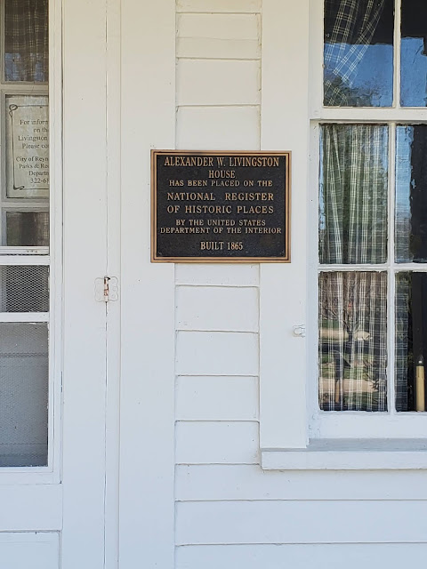 National Register of Historic Places Plaque on The Livingston House in Reynoldsburg, Ohio