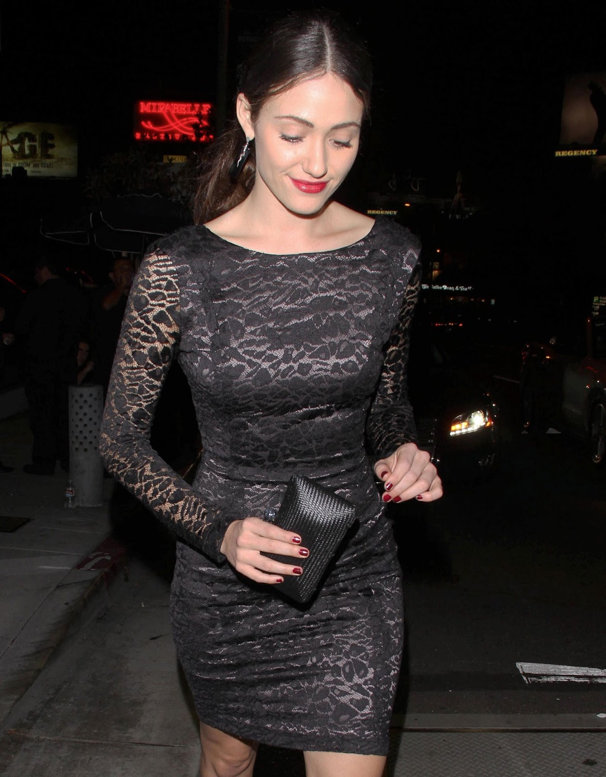 Emmy Rossum at The Eveleigh Restaurant