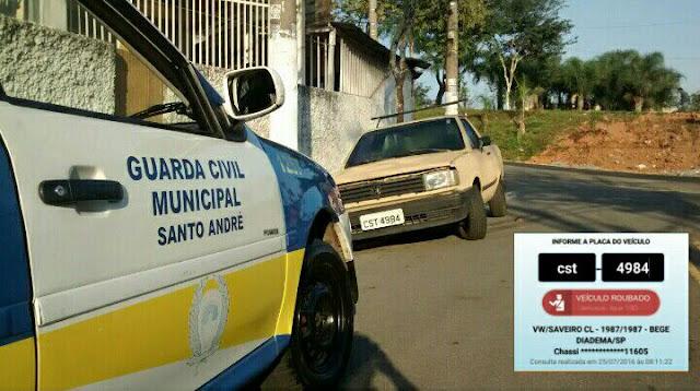 Ronda Setorial da 1º Inspetoria da GCM de Santo André localizou veículo produto de furto pela Vila Principe de Gales
