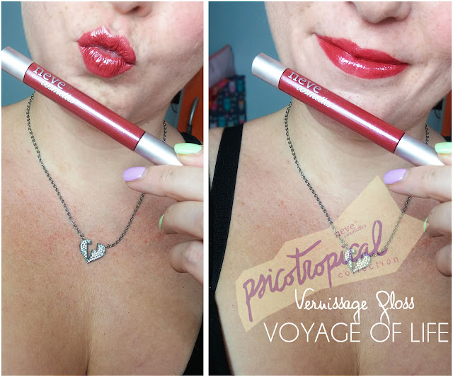 VERNISSAGE GLOSS  voyage of life applicazione  psicotropical collection neve cosmetic