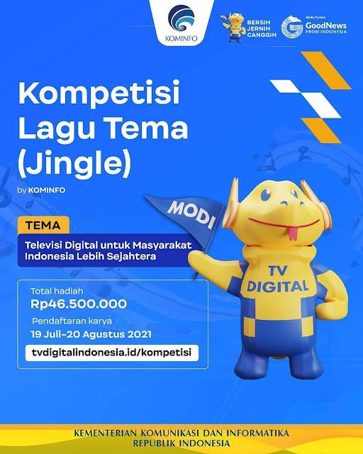 Lomba Lagu Jingle Berhadiah Uang Tunai Total 46 Juta Rupiah oleh Kominfo