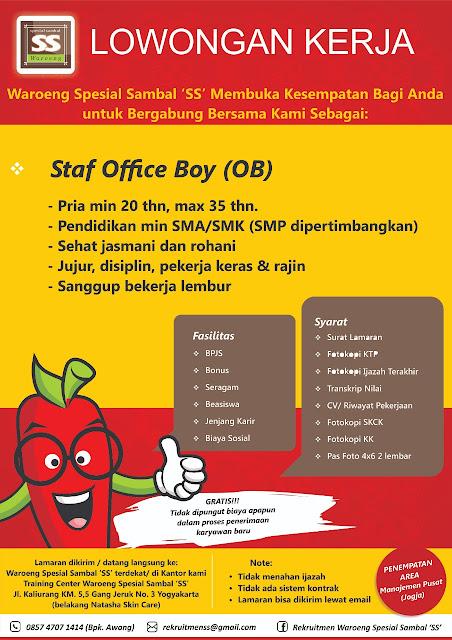 Lowongan Staf Office Boy (OB)