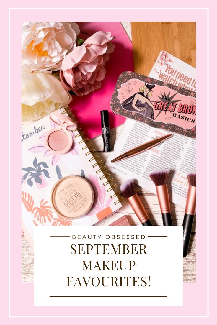 September Makeup Favourites Pinterest Graphic