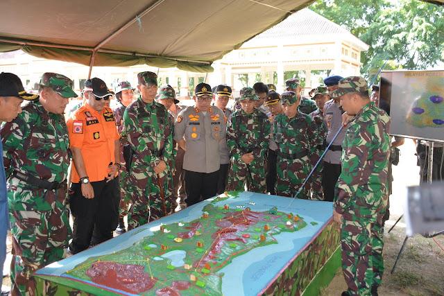 Ratusan Personel TNI-POLRI Bersama Pemkab Bone Gelar Apel Kesiapsiagaan Dalam Satjar Korem 141/Tp
