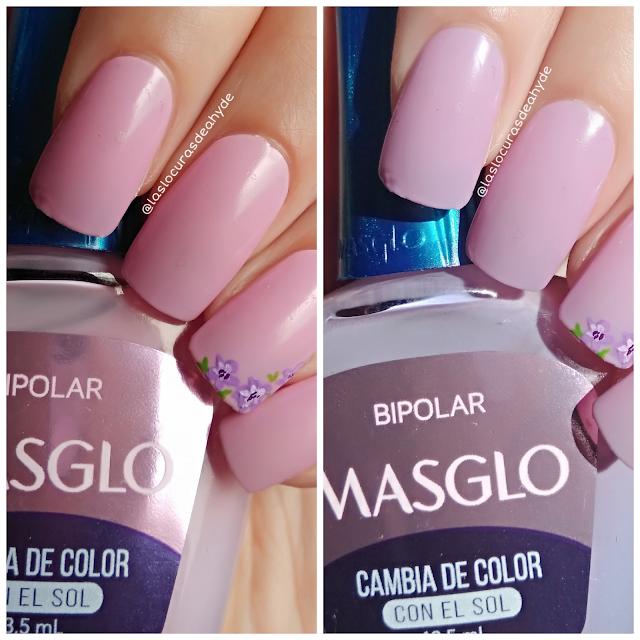 manicura con esmalte fotocromatico cambio de color