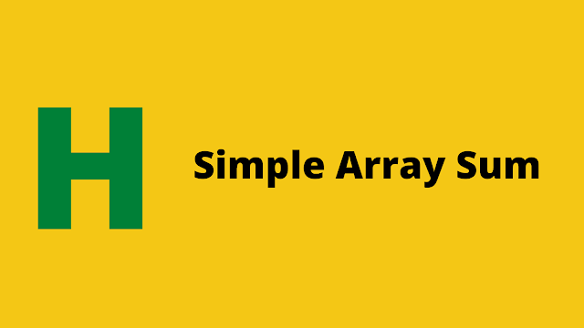 HackerRank Simple Array Sum problem solution