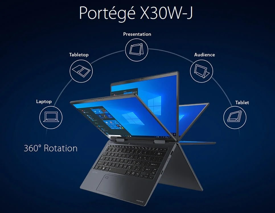 Dynabook Announces the World's Lightest 13-Inch Convertible with 11th Gen Intel Processors – the PORTÉGÉ X30W-J