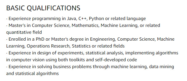 Amazon Internship Jobs for Applied Science Internship
