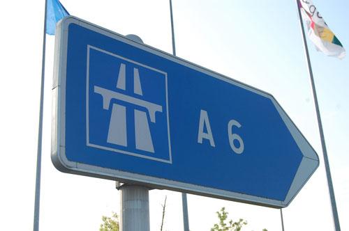 Estrada A6 de Paris a Lyon
