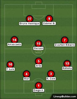Flamengo que iniciou a partida