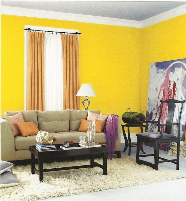 Warna Cat Kuning Rumah Bagian Dalam