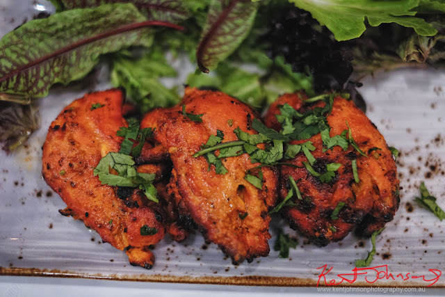 An entree serve of Chicken Tikka at Spice Theory, Turramurra. Photography by Kent Johnson for Street Fashion Sydney.
