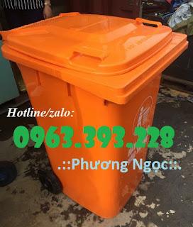 Thùng rác nhựa HDPE 240 Lít, thùng rác công nghiệp 240 Lít nắp kín