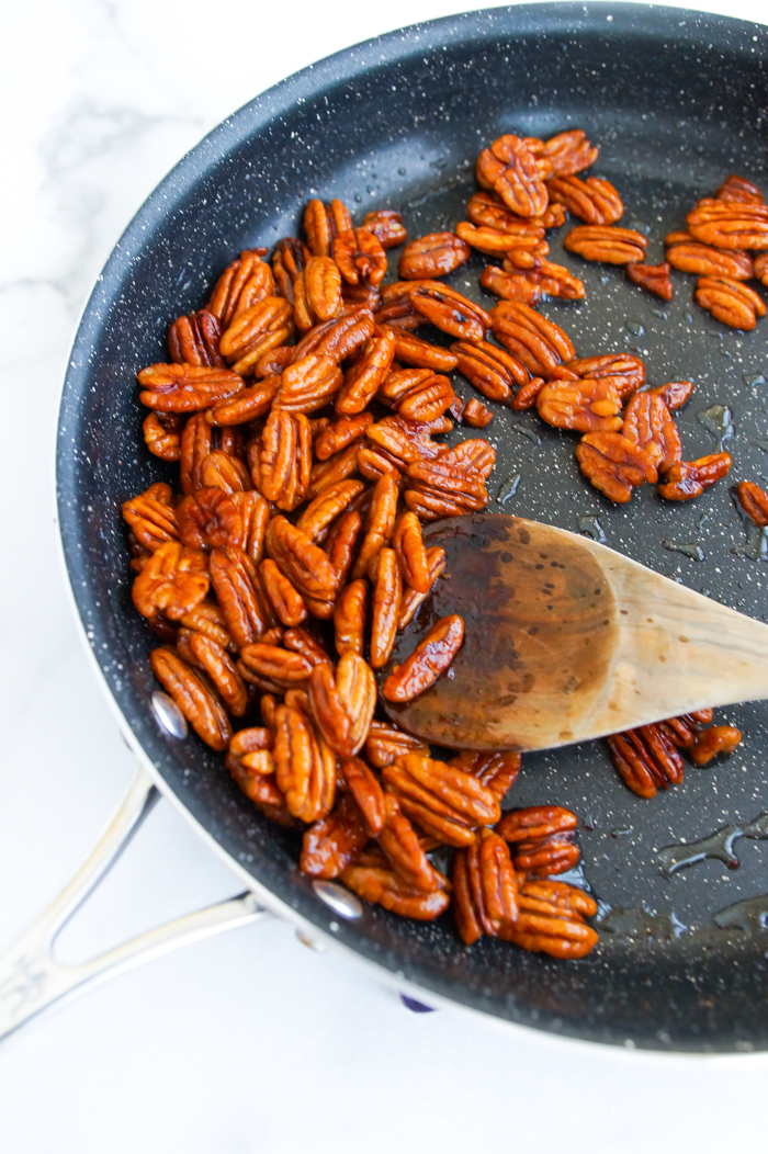 how to make Copycat Trader Joe's Cocoa Chile Spiced Pecans