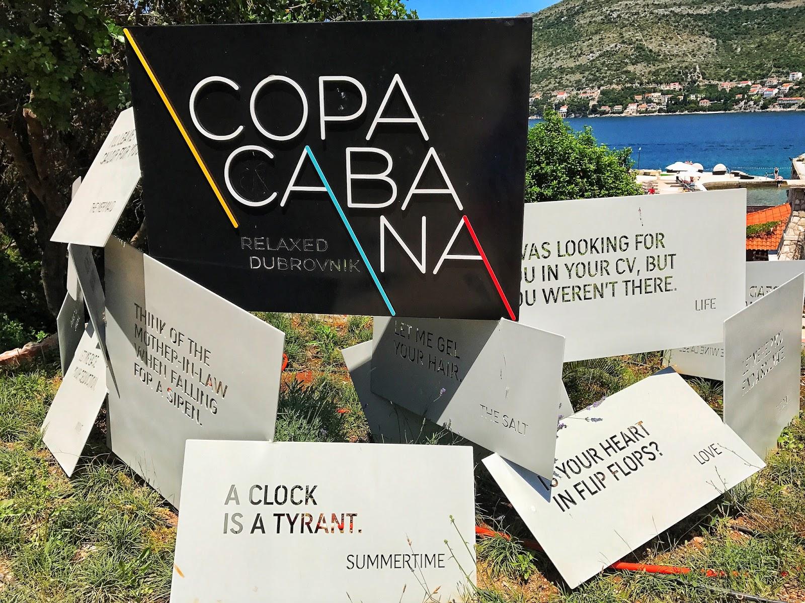 Copacana beach Dubrovnik Croatia