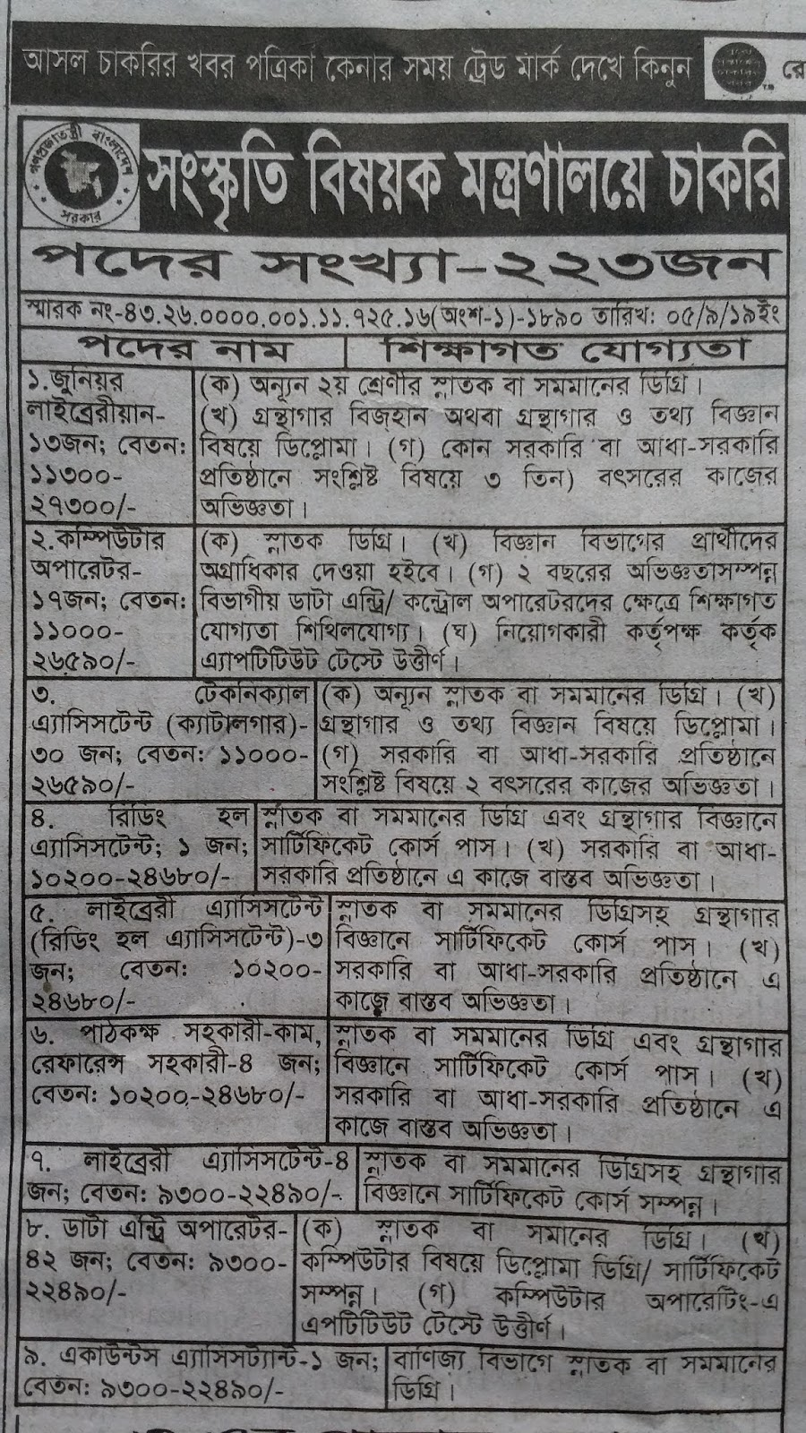 Ministry-of-Cultural-Affairs-job-Circular.