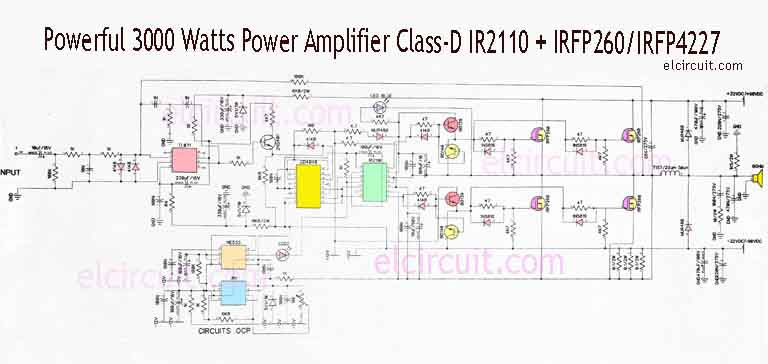 3000 Watts Power  lifier Class D on amplifier schematics