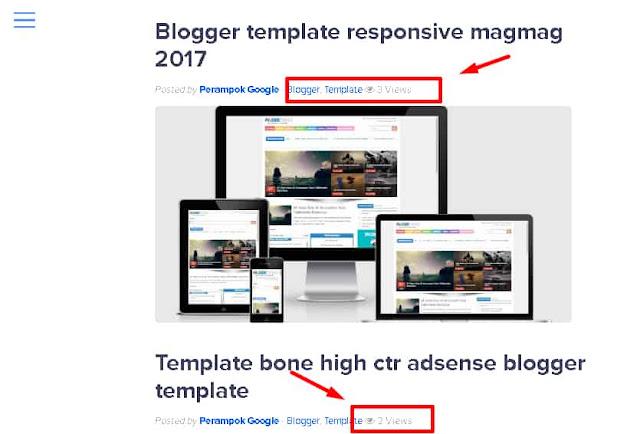 cara membuat live counter berapa kali postingan di baca pada blogger