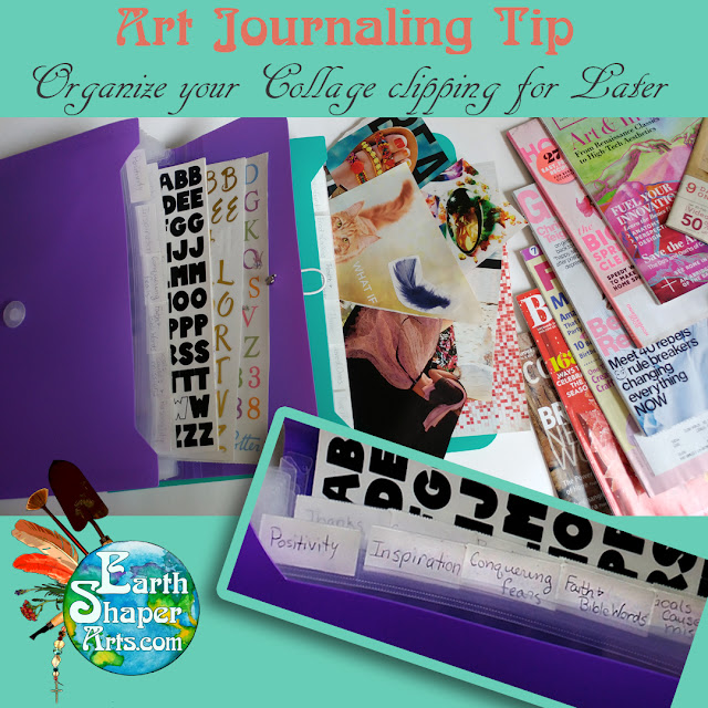 Organize your collage clippings to save for later