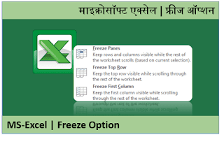 MS-Excel How to Freeze Cells