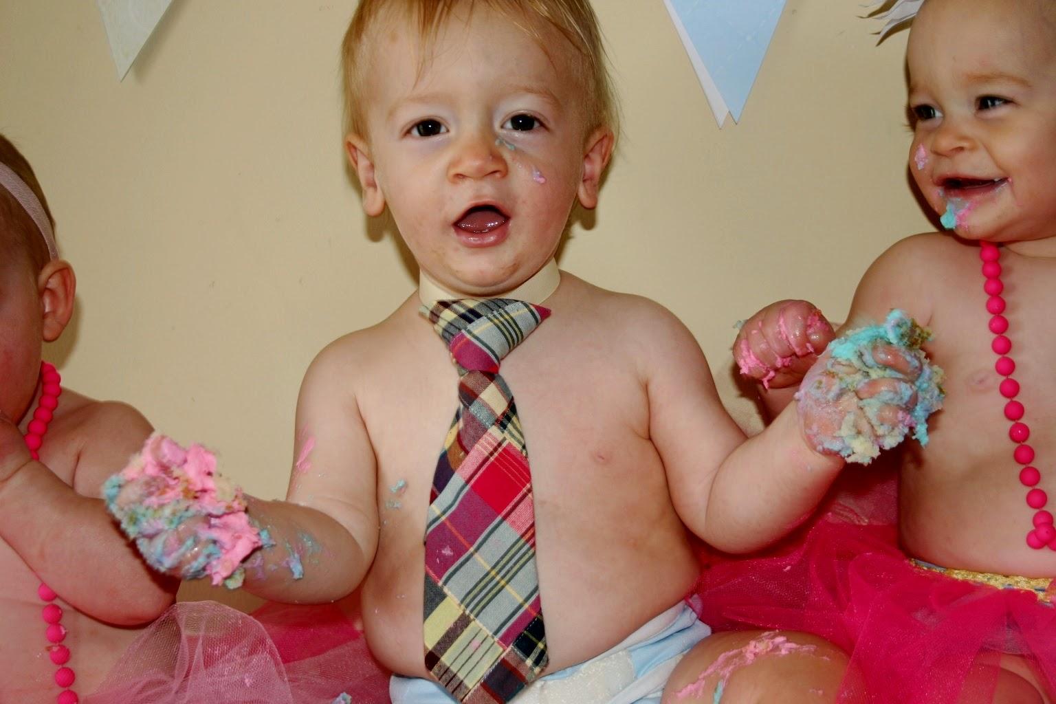 Triplets Toddler Cake Smash Photos