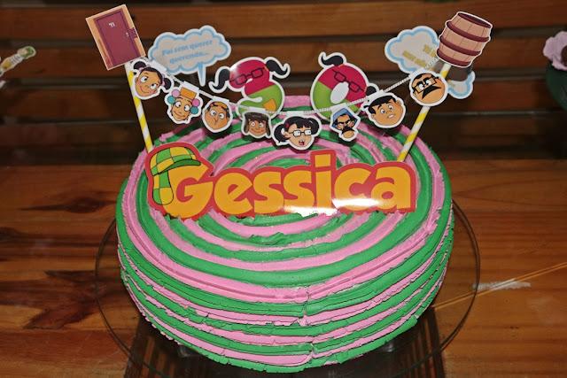 decoração festa do chaves - topper de bolo chaves