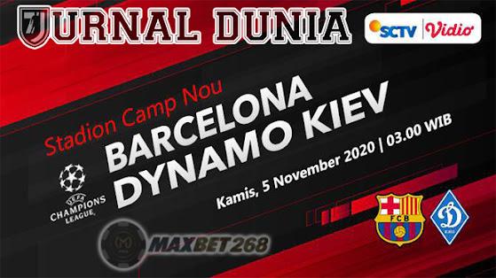 Prediksi Barcelona Vs Dynamo Kiev, Kamis 05 November 2020 Pukul 03.00 WIB @ SCTV