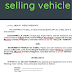 contract selling vehicle - Sample word template