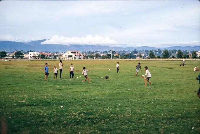 Kids and Youths playing in Tudikhel , Kathmandu during 1970s