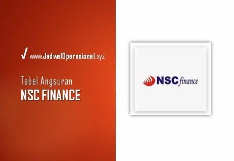 Tabel Angsuran NSC Finance