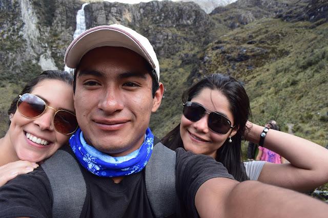 selfie de 3 amigos