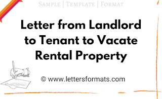Notice from Landlord to Tenant to Vacate Rental Property