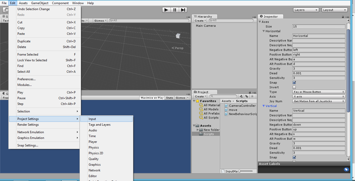 Input Getaxis, OnMouseDown, GetComponent< > - Unity Scripts