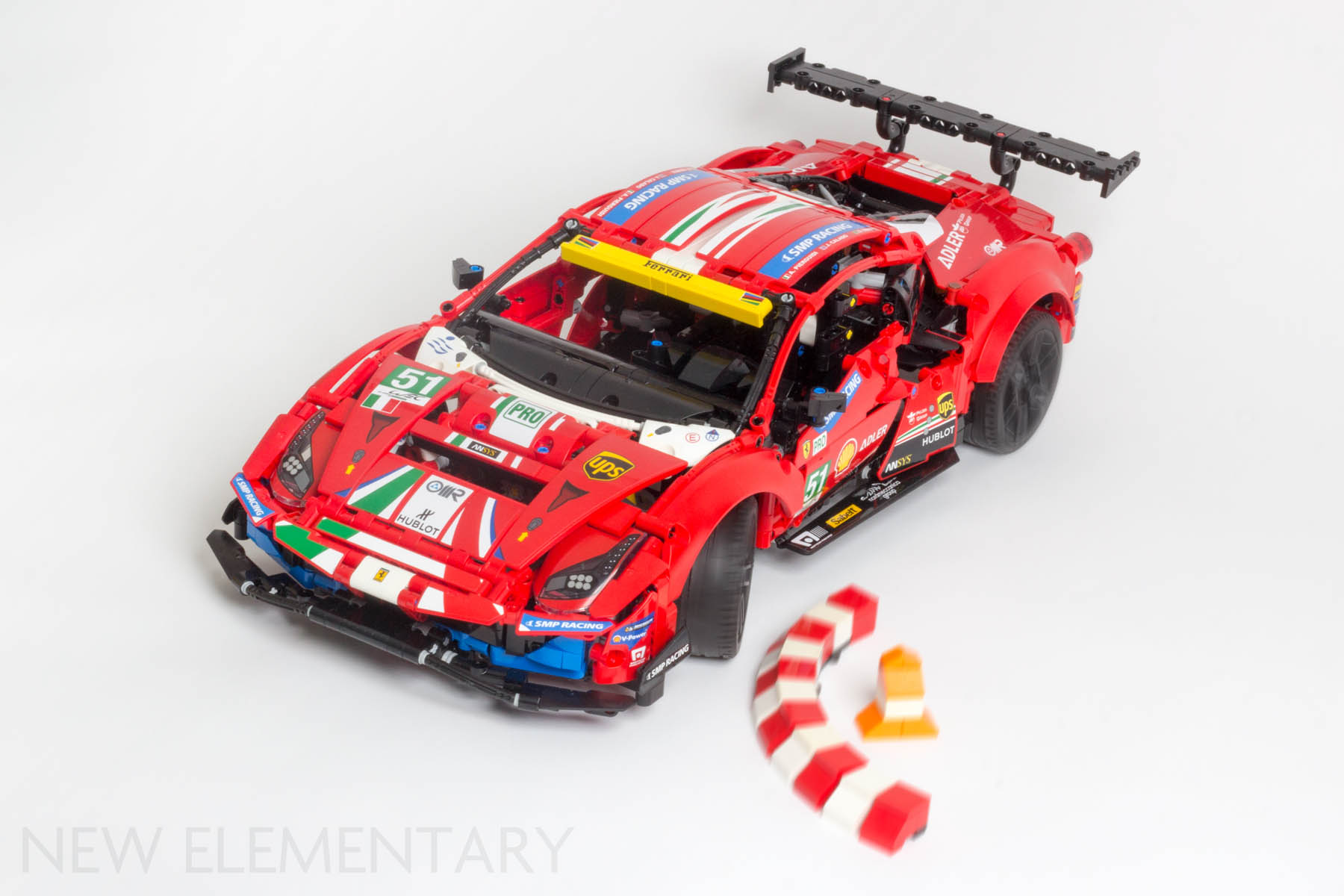 Lego Technic Review 42125 Ferrari 488 Gte Af Corse 51 New Elementary Lego Parts Sets And Techniques