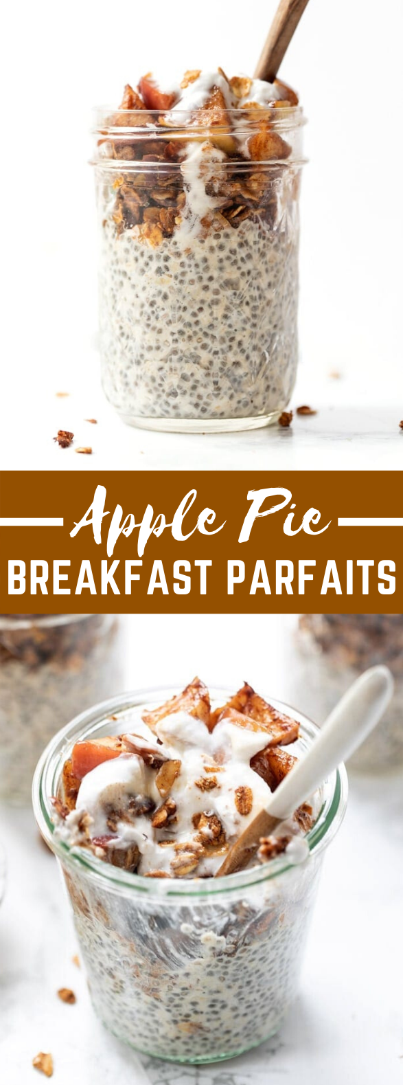 Healthy Apple Pie Breakfast Parfaits #morningtreat #diet