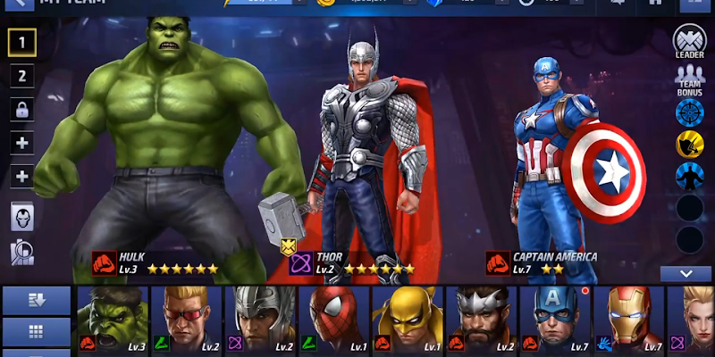 Marvel Future Avengers fight for android - 3D games download