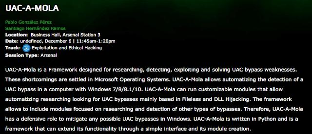 UAC-A-Mola en BlackHat imagen