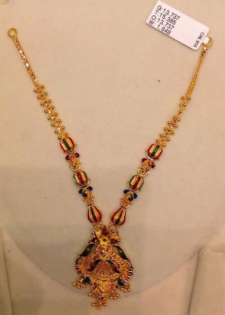 light weight gold necklace design 22kgolddesigns