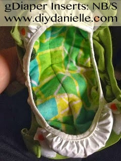 How to make your own newborn/small size gDiaper inserts