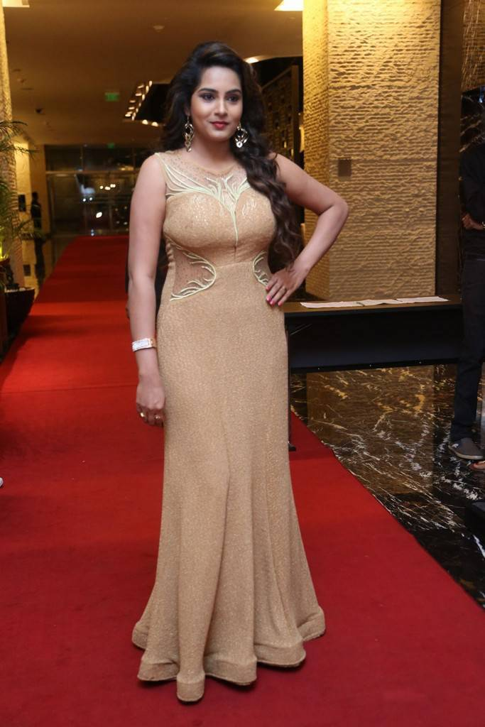Himaja Beautiful Appearance In A Long Gown At SIIMA Short