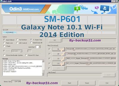 سوفت وير هاتف Galaxy Note 10.1 Wi-Fi 2014 Edition موديل SM-P601 روم الاصلاح 4 ملفات تحميل مباشر
