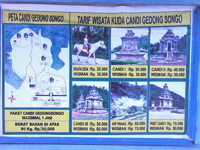 harga wisata kuda di candi gedong songo